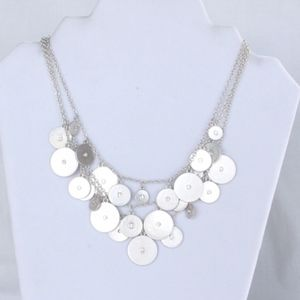 Anthropologie Silver Layer Multi Strand Necklace